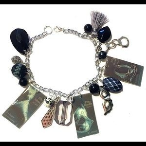 50 Shades of Grey Book Series Charm Bracelet